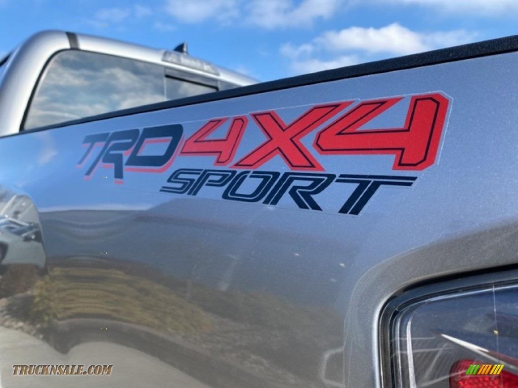 2021 Tacoma TRD Sport Double Cab 4x4 - Silver Sky Metallic / TRD Cement/Black photo #24