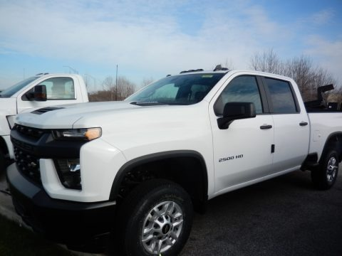 Summit White 2021 Chevrolet Silverado 2500HD Work Truck Crew Cab 4x4