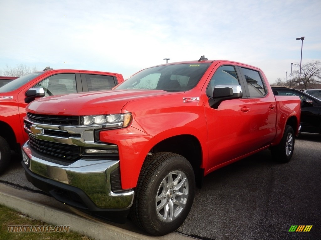 2021 Silverado 1500 LT Crew Cab 4x4 - Red Hot / Jet Black photo #1