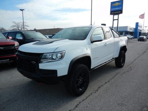 Summit White 2021 Chevrolet Colorado Z71 Extended Cab 4x4