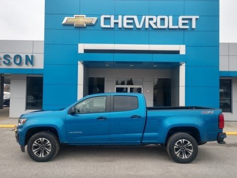 Bright Blue Metallic 2021 Chevrolet Colorado Z71 Crew Cab 4x4