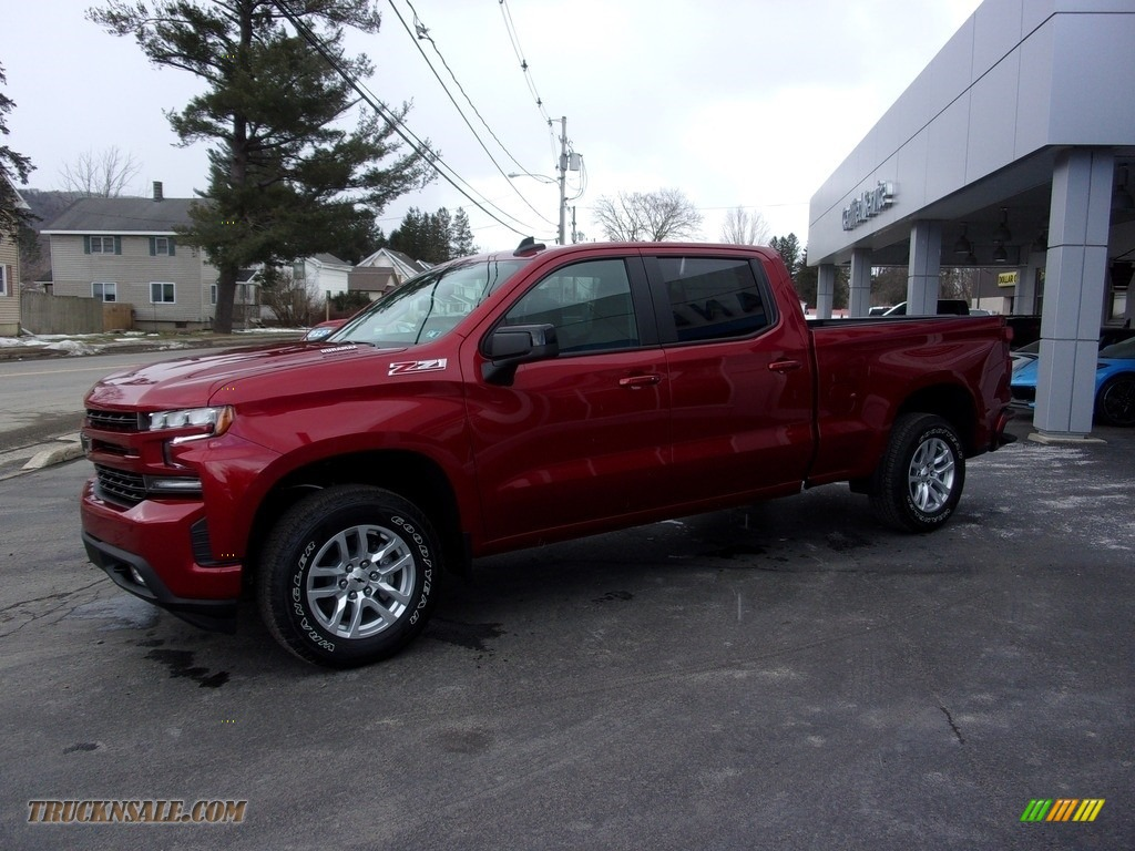 2021 Silverado 1500 RST Crew Cab 4x4 - Cherry Red Tintcoat / Jet Black photo #1