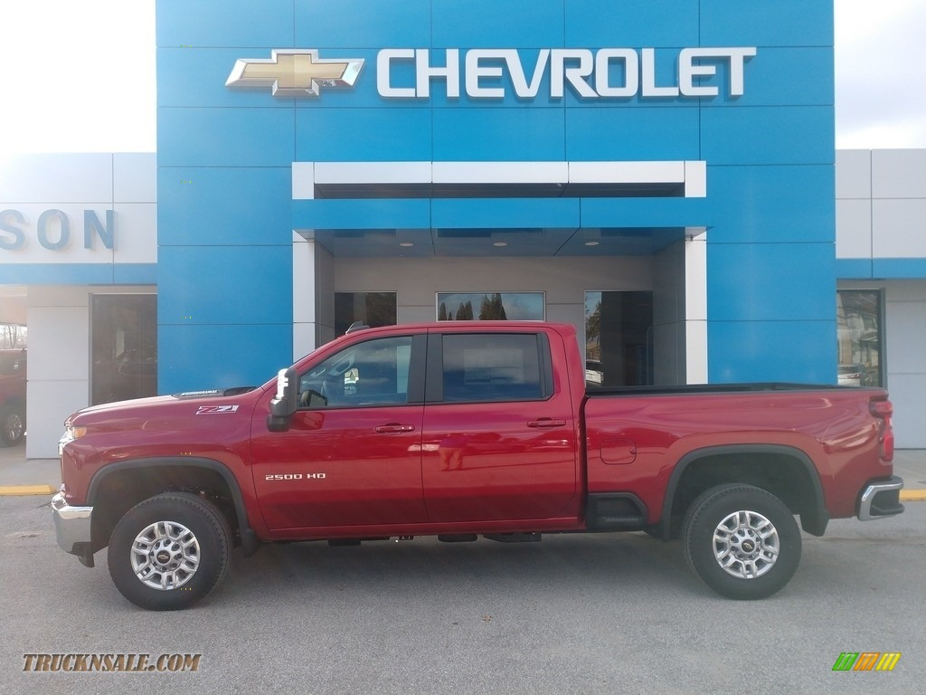2021 Silverado 2500HD LT Crew Cab 4x4 - Cherry Red Tintcoat / Jet Black photo #1