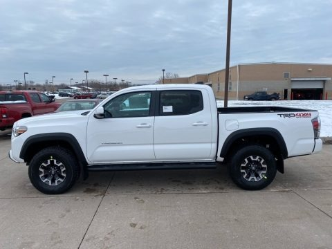 Super White 2021 Toyota Tacoma TRD Off Road Double Cab 4x4
