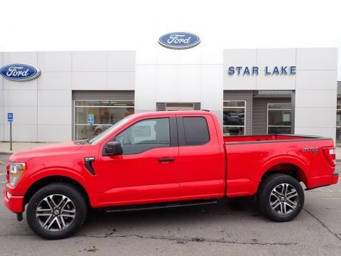 Race Red 2021 Ford F150 STX SuperCab 4x4