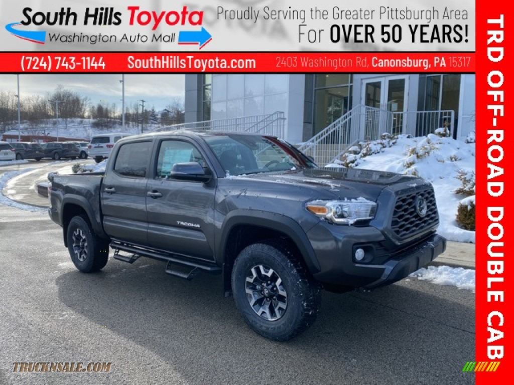 2021 Tacoma TRD Off Road Double Cab 4x4 - Magnetic Gray Metallic / TRD Cement/Black photo #1