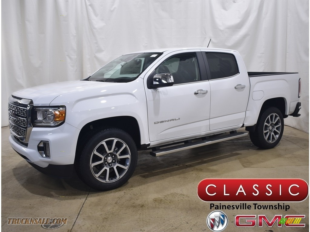 2021 Canyon Denali Crew Cab 4WD - Summit White / Jet Black photo #1