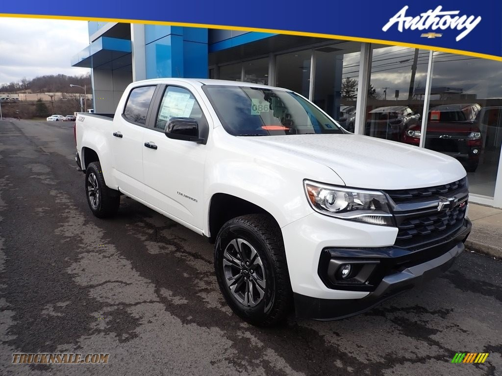 2021 Colorado Z71 Crew Cab 4x4 - Summit White / Jet Black/­Dark Ash photo #1
