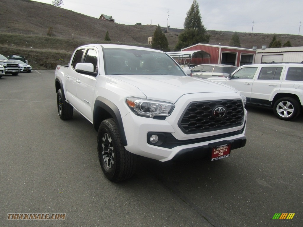 2020 Tacoma TRD Off Road Double Cab 4x4 - Super White / TRD Cement/Black photo #1