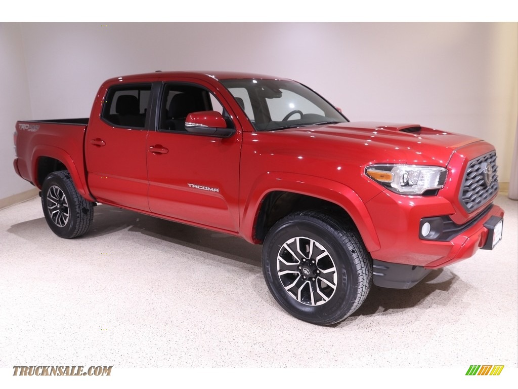 2020 Tacoma TRD Sport Double Cab 4x4 - Barcelona Red Metallic / TRD Cement/Black photo #1