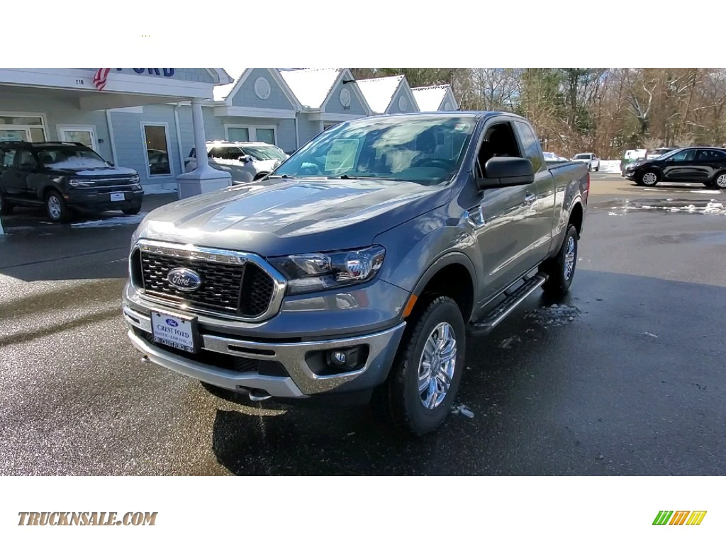 2021 Ranger XLT SuperCab 4x4 - Carbonized Gray Metallic / Ebony photo #3