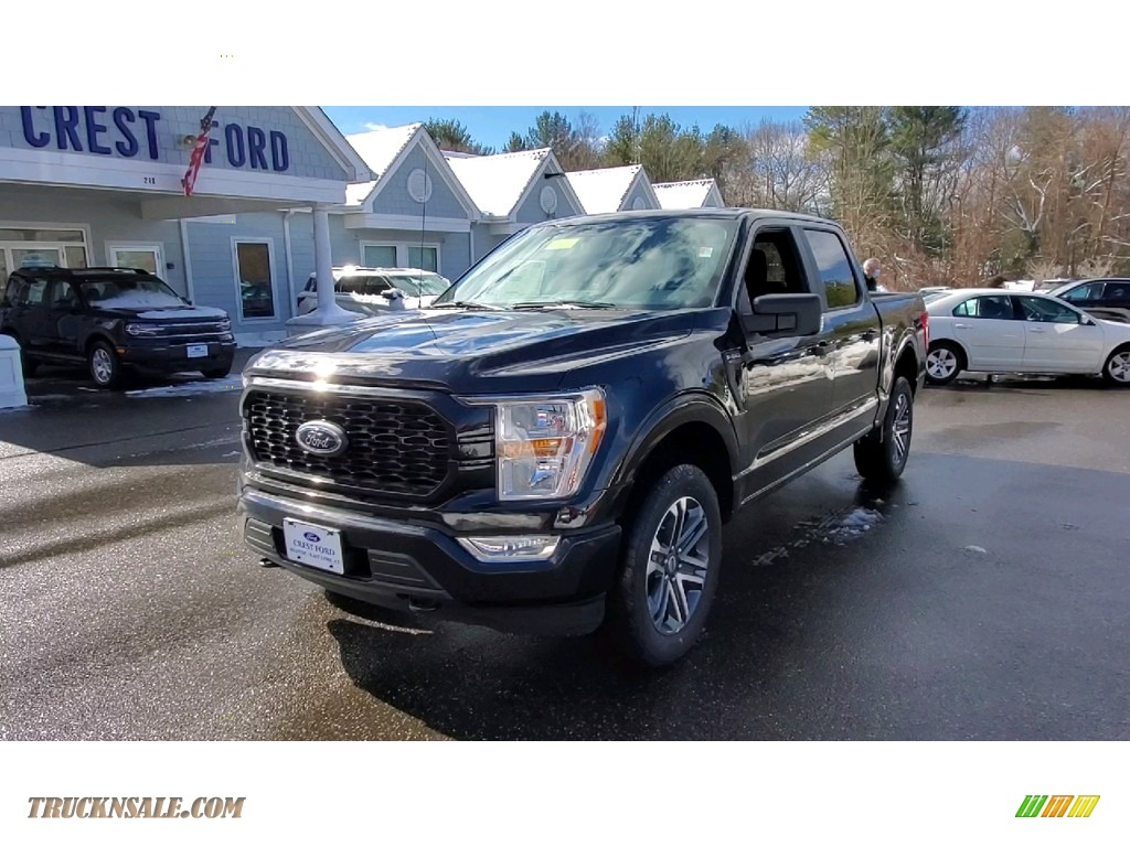 2021 F150 STX SuperCrew 4x4 - Agate Black / Black photo #3