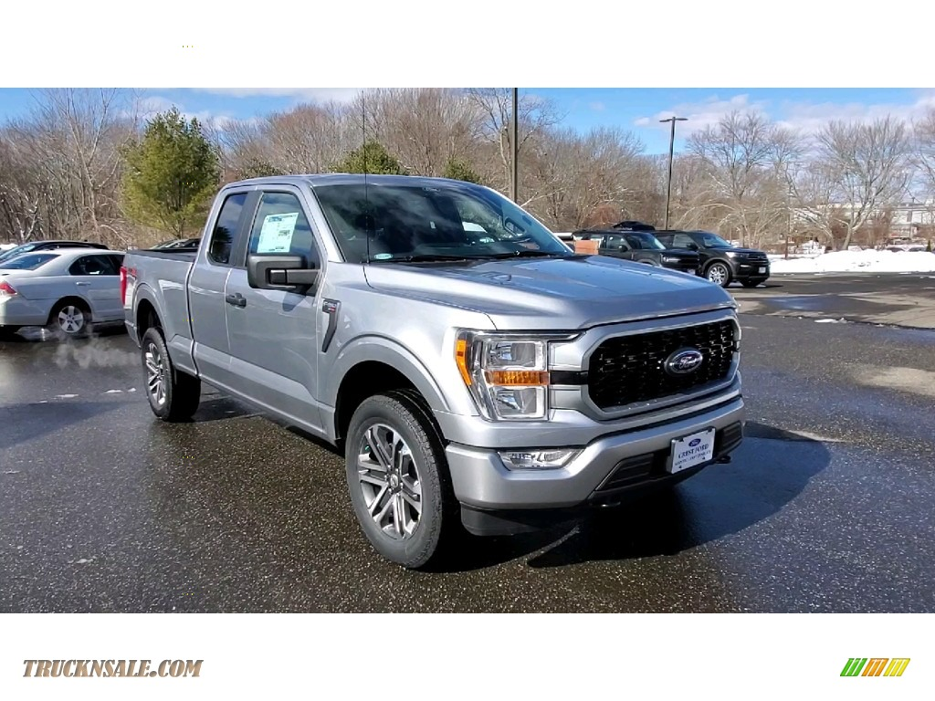 2021 F150 STX SuperCab 4x4 - Iconic Silver / Black photo #1