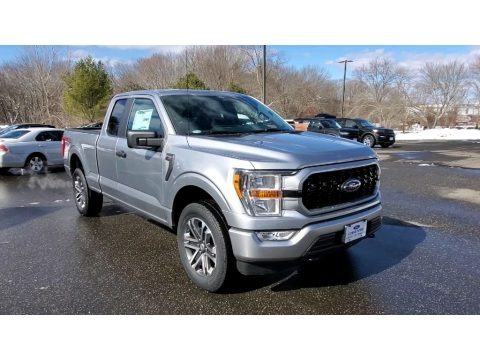 Iconic Silver 2021 Ford F150 STX SuperCab 4x4