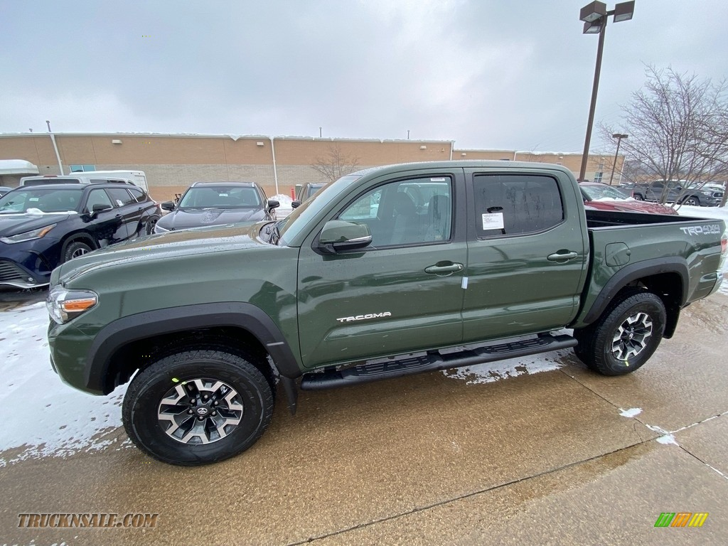 Army Green / TRD Cement/Black Toyota Tacoma TRD Off Road Double Cab 4x4