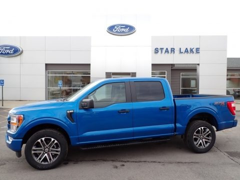 Velocity Blue 2021 Ford F150 STX SuperCrew 4x4