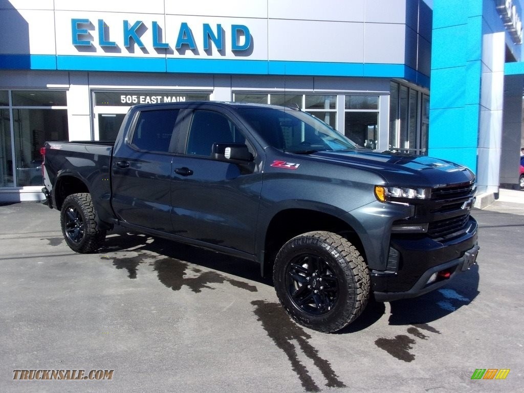 2021 Silverado 1500 LT Trail Boss Crew Cab 4x4 - Shadow Gray Metallic / Jet Black photo #1