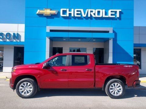 Cherry Red Tintcoat 2021 Chevrolet Silverado 1500 Custom Crew Cab 4x4