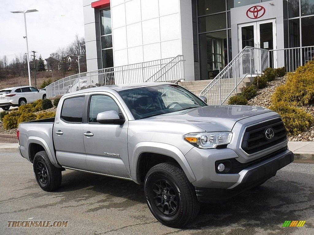 2020 Tacoma SR5 Double Cab 4x4 - Silver Sky Metallic / Black photo #1