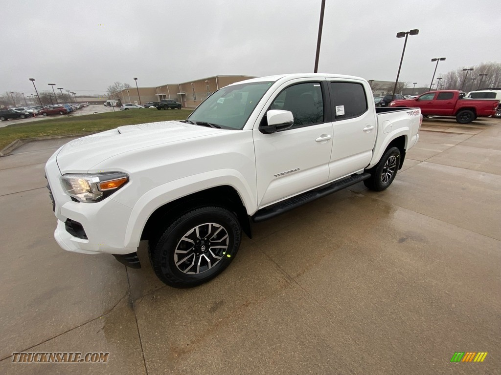 2021 Tacoma TRD Sport Double Cab 4x4 - Super White / TRD Cement/Black photo #1