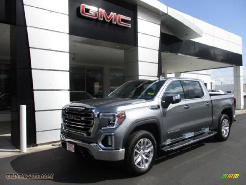 2021 Sierra 1500 SLT Crew Cab 4WD - Satin Steel Metallic / Jet Black photo #1