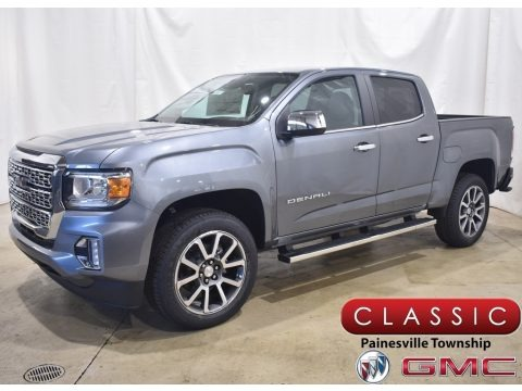 Satin Steel Metallic 2021 GMC Canyon Denali Crew Cab 4WD