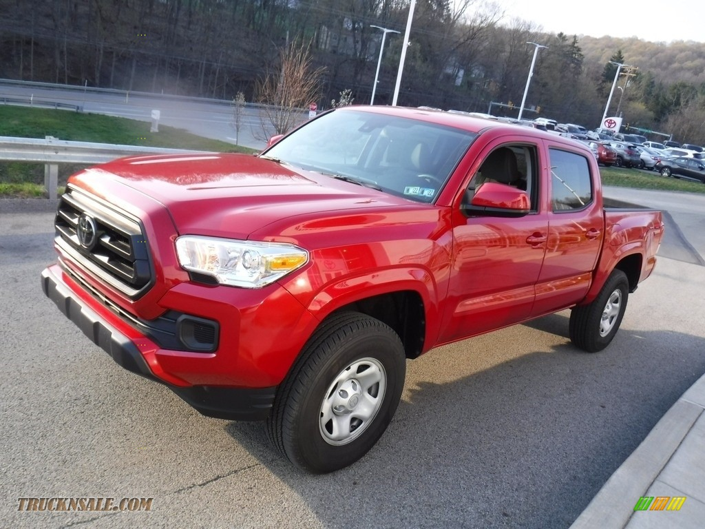 2021 Tacoma SR5 Double Cab 4x4 - Barcelona Red Metallic / Cement photo #13