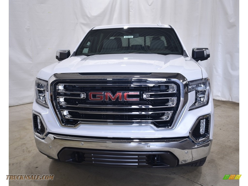 2021 Sierra 1500 SLT Crew Cab 4WD - White Frost Tricoat / Dark Walnut/Slate photo #4