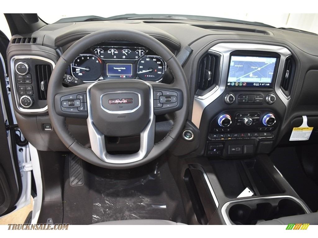 2021 Sierra 1500 SLT Crew Cab 4WD - White Frost Tricoat / Dark Walnut/Slate photo #10