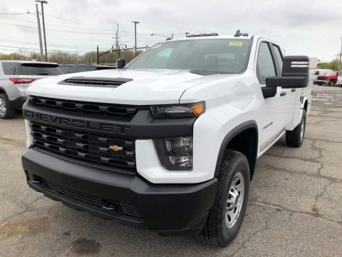 Summit White 2021 Chevrolet Silverado 3500HD Work Truck Extended Cab 4x4