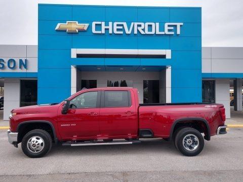 Cherry Red Tintcoat 2021 Chevrolet Silverado 3500HD LT Crew Cab 4x4