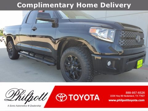 Midnight Black Metallic 2021 Toyota Tundra SR Double Cab