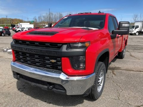 Red Hot 2021 Chevrolet Silverado 2500HD Work Truck Double Cab Utility