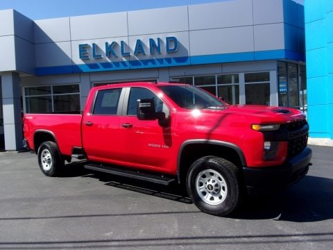 Red Hot 2020 Chevrolet Silverado 3500HD Work Truck Crew Cab 4x4