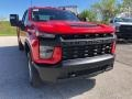 Chevrolet Silverado 3500HD Work Truck Extended Cab 4x4 Chassis Red Hot photo #2