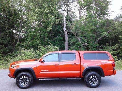 Inferno Orange 2017 Toyota Tacoma TRD Off Road Double Cab 4x4