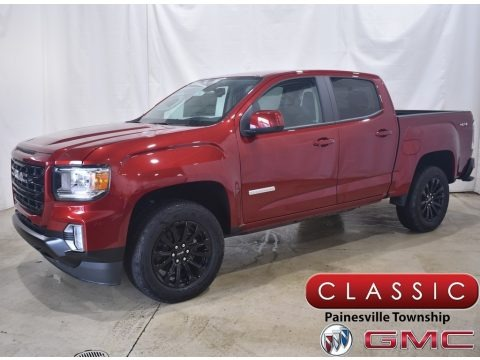 Cayenne Red Tintcoat 2021 GMC Canyon Elevation Extended Cab 4WD