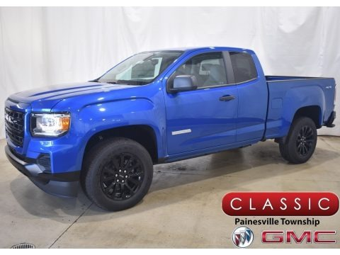Dynamic Blue Metallic 2021 GMC Canyon Elevation Extended Cab 4WD