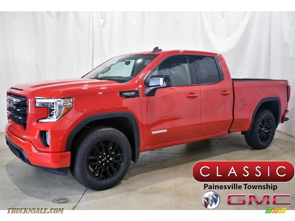 2021 Sierra 1500 Elevation Double Cab 4WD - Cardinal Red / Jet Black photo #1