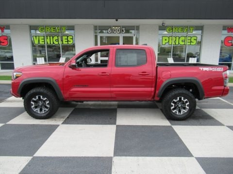 Barcelona Red Metallic 2021 Toyota Tacoma TRD Off Road Double Cab 4x4
