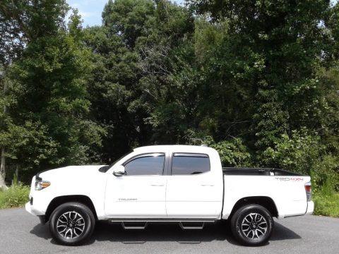 Super White 2020 Toyota Tacoma TRD Sport Double Cab 4x4