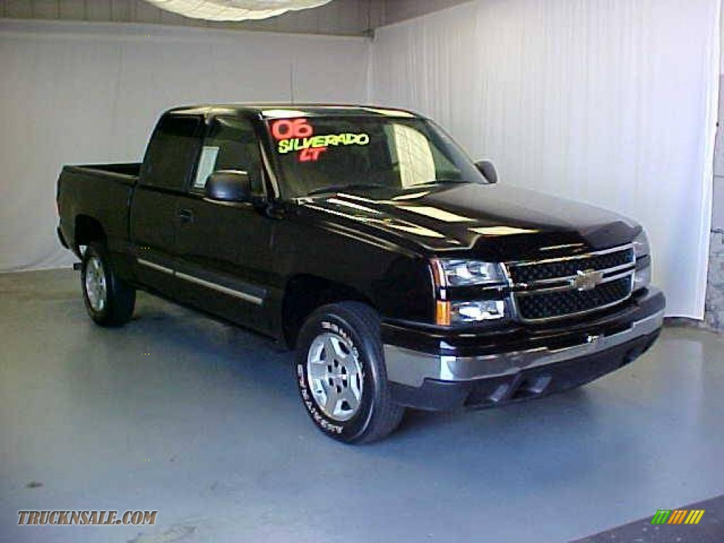 2006 chevrolet silverado 1500 extended cab in black 121135 truck n 39 sale. Black Bedroom Furniture Sets. Home Design Ideas