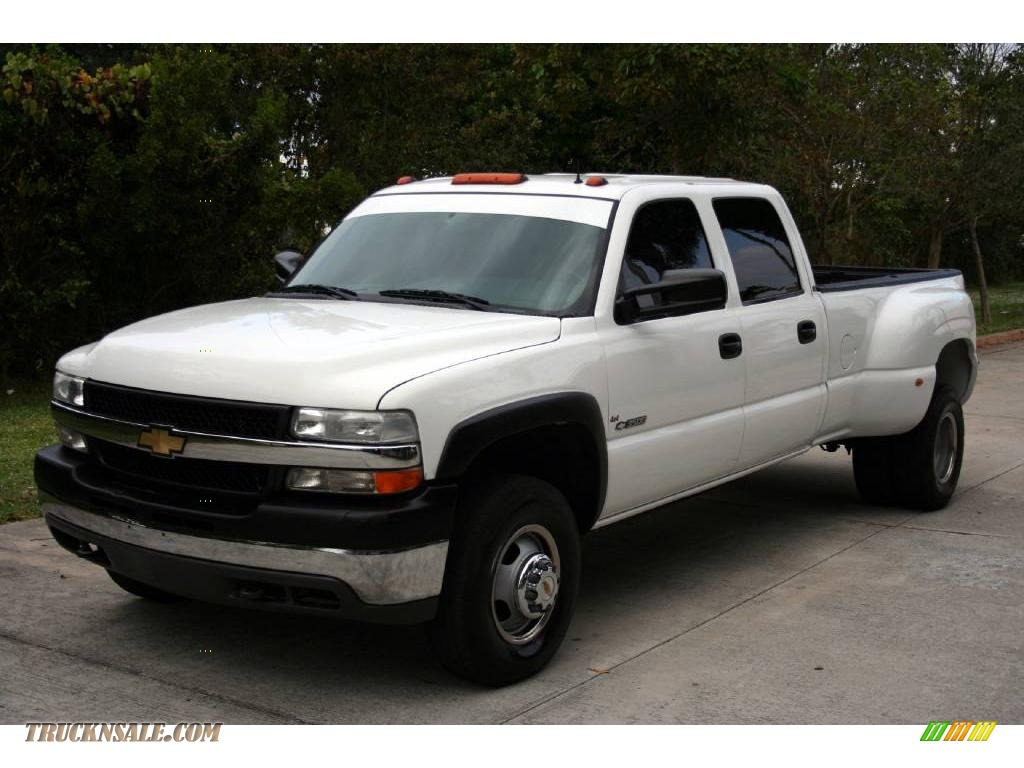 2001 Chevrolet Silverado 3500 LT Crew Cab 4x4 Dually in Summit White ...