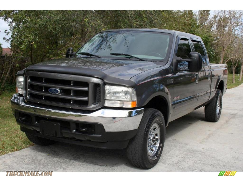 2004 Ford F250 Super Duty Fx4 Crew Cab 4x4 In Dark Shadow Grey Metallic Medium Flint
