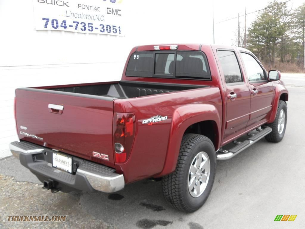 2010 gmc canyon sle crew cab 4x4 in merlot jewel metallic photo 5 110814 truck n 39 sale. Black Bedroom Furniture Sets. Home Design Ideas