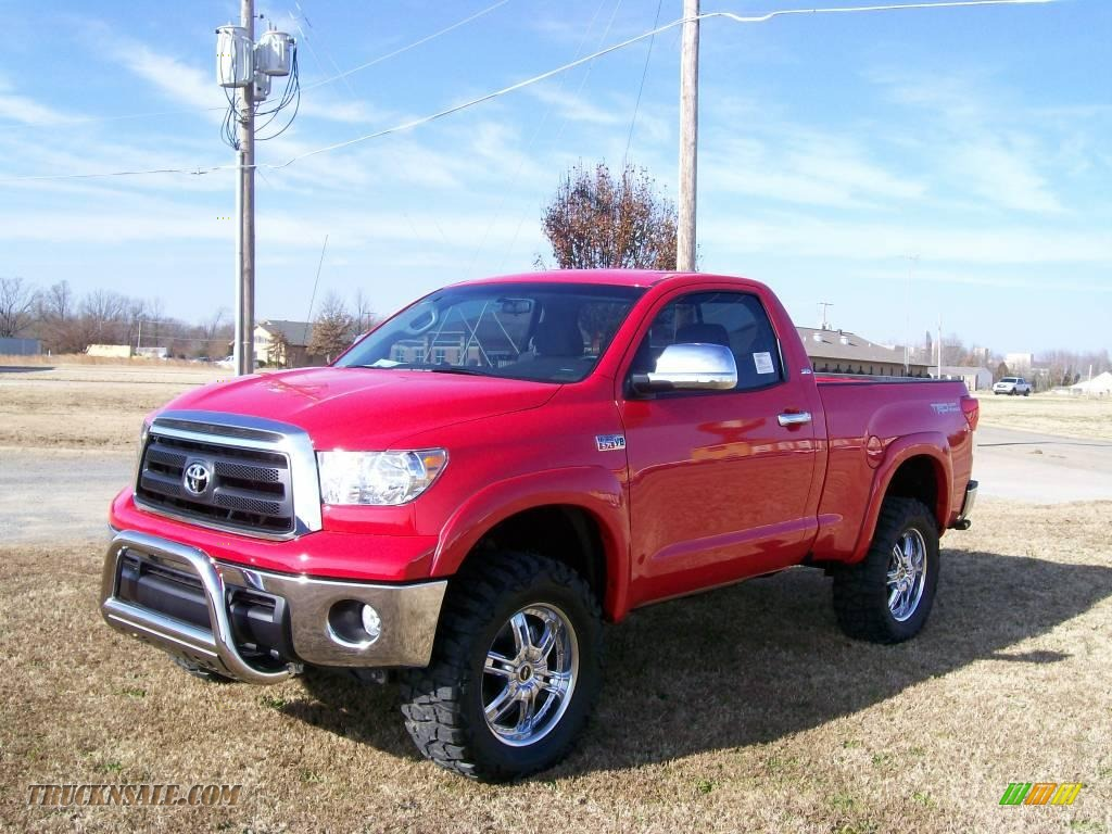 2010 toyota tundra regular cab 4x4 in radiant red 003895 truck n 39 sale. Black Bedroom Furniture Sets. Home Design Ideas