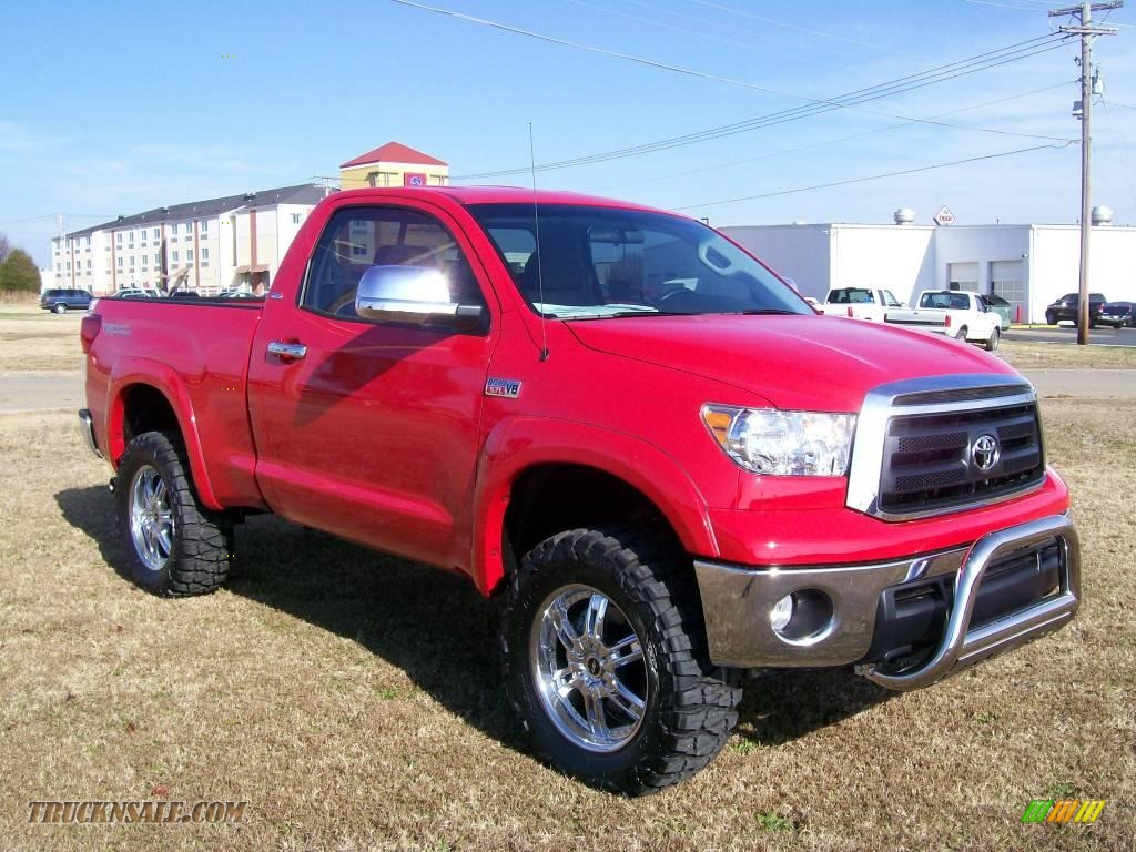 2010 toyota tundra regular cab 4x4 in radiant red photo 2 003895 truck n 39 sale. Black Bedroom Furniture Sets. Home Design Ideas