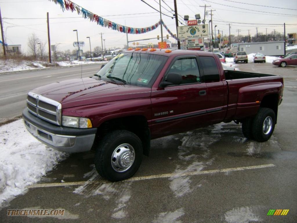 2001 dodge ram 3500 slt club cab 4x4 dually in dark garnet red pearl photo 4 575474 truck n
