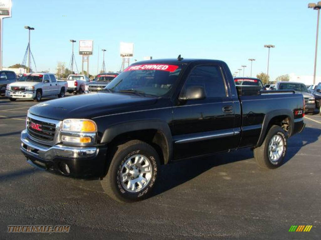 2006 Gmc Sierra 1500 Z71 Regular Cab 4x4 In Onyx Black 119621 Truck N Sale