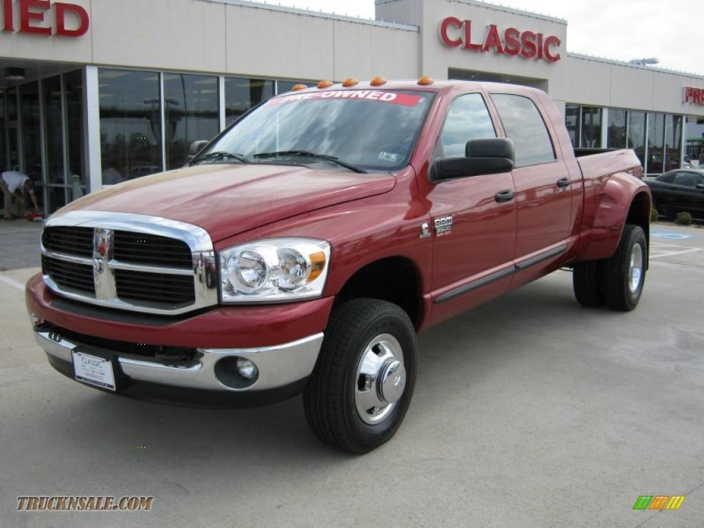 2008 Dodge Ram 3500 Slt Mega Cab 4x4 Dually In Inferno Red Crystal Pearl 104277 Truck N Sale